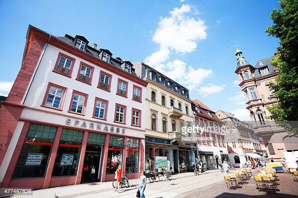rowhouse of hauptstraße in heidelberg - hauptstraße stock pictures, royalty-free photos & images