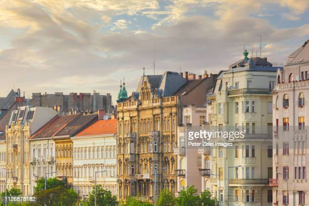 rowhouses in the inner city of budapest, hungary - hungary stock pictures, royalty-free photos & images
