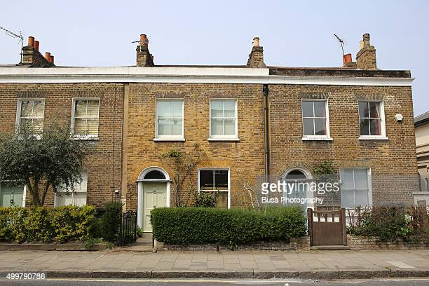 rowhouses in the stockwell area of south london, uk - terraced house stock pictures, royalty-free photos & images
