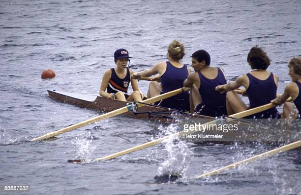 1976 Summer Olympics USA in action during Women's Eight Final USA won the bronze medal Montreal Canada 7/17/19768/1/1976 CREDIT Heinz Kluetmeier
