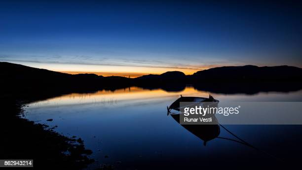 Rowing boat at Lake Syndin