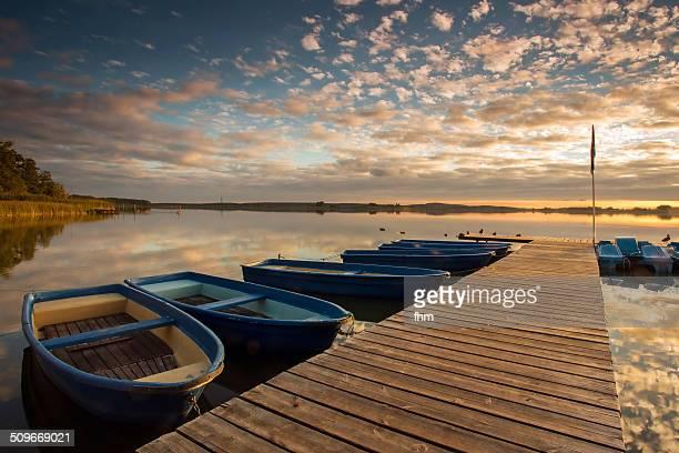 Rowing boat harbor
