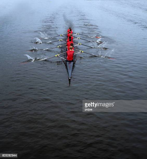 rowing eight man - sports team event stock photos and pictures