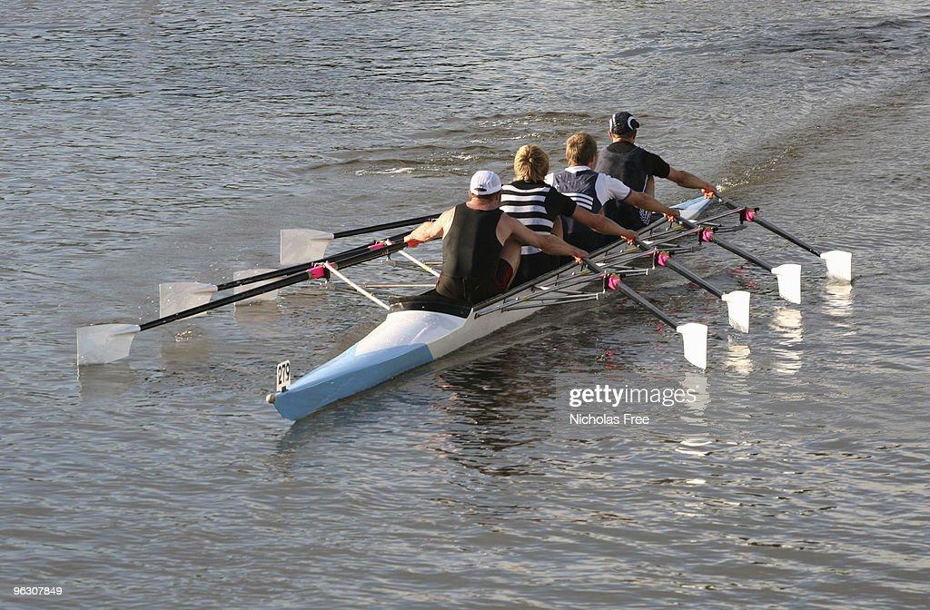 Rowing Four : Stock Photo
