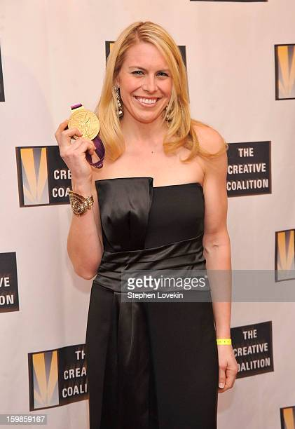 S rowing goldmedalist Esther Lofgren attends The Creative Coalition's 2013 Inaugural Ball at the Harman Center for the Arts on January 21 2013 in...