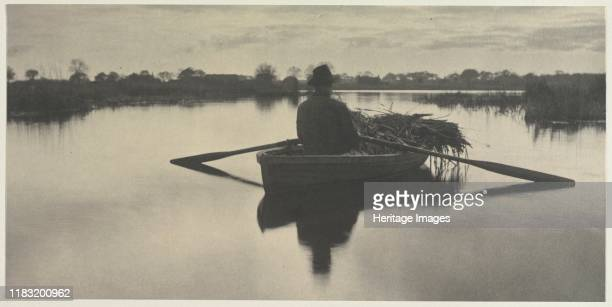 Rowing Home the Schoof-Stuff , 1886. Reacting against the theatrical, sentimental photogaphs made by his contemporaries, Peter Henry Emerson pursued...