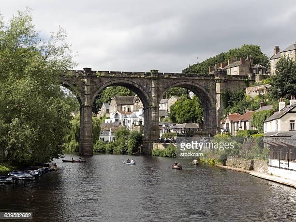 rowing in knaresborough, north yorkshire, uk - norte de yorkshire - fotografias e filmes do acervo