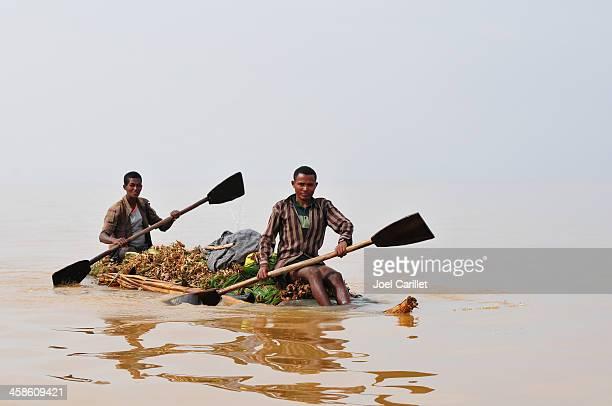 Rowing on African lake