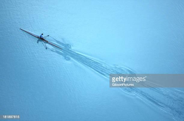 Rowing on Lake Louise