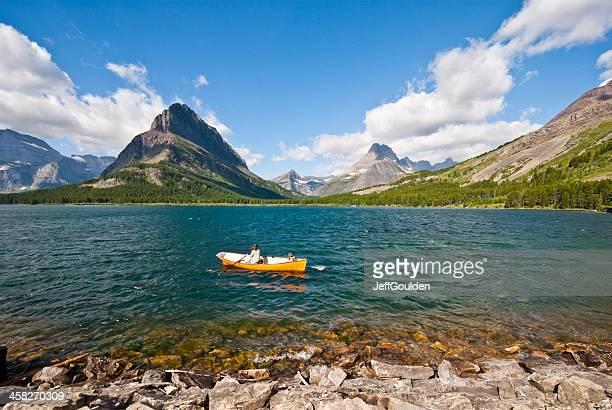 Rudern auf See Swiftcurrent Lake