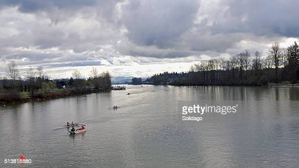 Rowing On The Bedford Channel Fort Langley BC