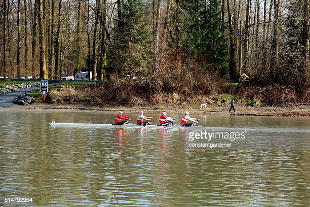 Rowing Past Brae Island Campground Fort Langley BC