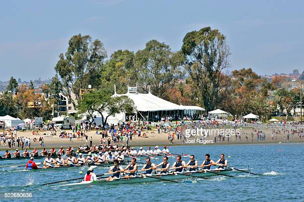 rowing, san diego crew classic, men's eights, - joel rogers stock pictures, royalty-free photos & images
