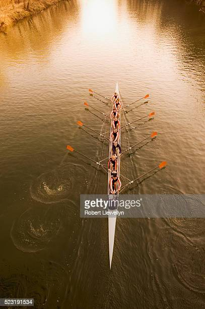 Rowing Team on a River
