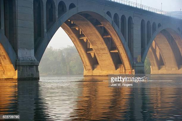 Rowing Team Under Francis Scott Key Memorial Bridge