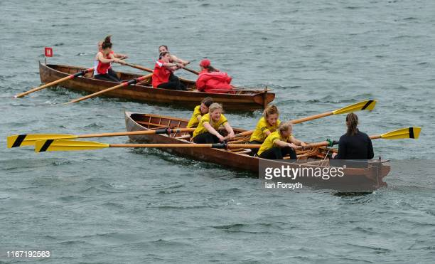 Rowing teams compete during the annual Whitby Regatta on August 10 2019 in Whitby England At over 170 years old the Whitby Regatta is thought to be...