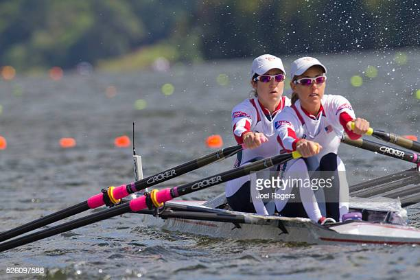 Rowing United States Women's lightweight double Abelyn Broughton bow Ursula Grobler stroke heat race October 31 2010 FISA World Rowing Championships...