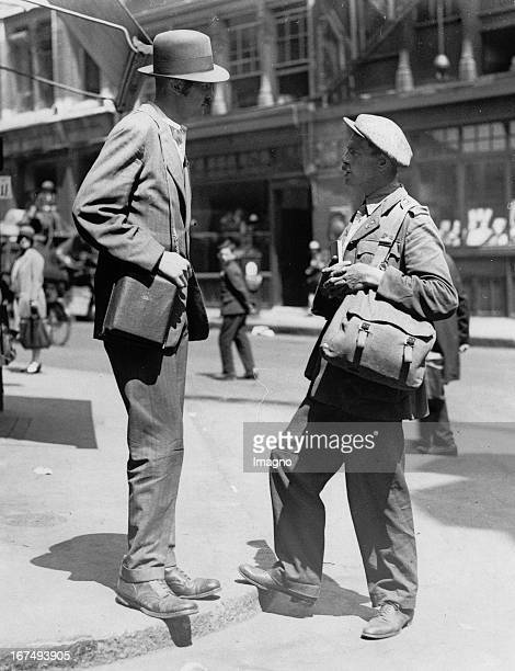 LG Rowland and Murray Brook They left London in 1926 to more than 10000 miles by bicycle or on foot to cover The picture shows how the two of them...