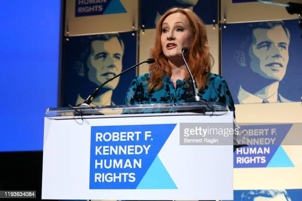 K Rowling accepts an award onstage during the Robert F Kennedy Human Rights Hosts 2019 Ripple Of Hope Gala Auction In NYC on December 12 2019 in New...