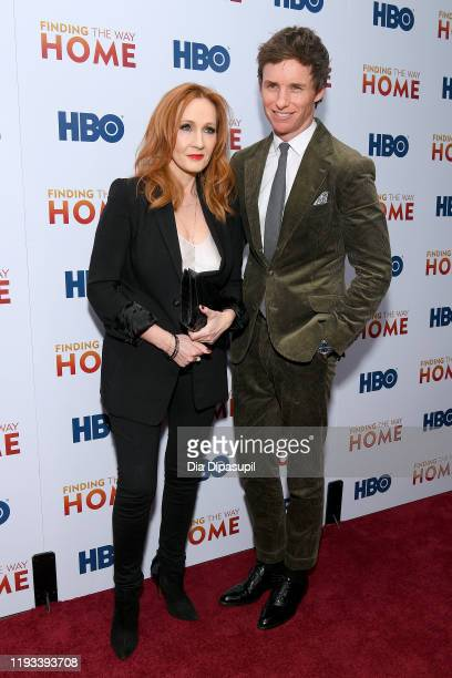 K Rowling and Eddie Redmayne attend HBO's Finding The Way Home World Premiere at Hudson Yards on December 11 2019 in New York City
