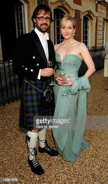 JK Rowling and her husband arrive at the Raisa Gorbachev Foundation Party at the Hampton Court Palace on June 2 2007 in Richmond upon Thames London...