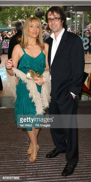 JK Rowling and her husband Neil Murray arrive for the UK premiere of Harry Potter And The Prisoner of Azkaban at the Odeon Leicester Square in...