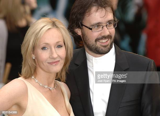 JK Rowling and her husband Neil Murray arrive for the UK Premiere of Harry Potter And The Order Of The Phoenix at the Odeon Leicester Square central...
