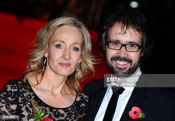JK Rowling and husband Neil Murray arriving for the World Premiere of Harry Potter and The Deathly Hallows Part One at the Odeon West End Leicester...