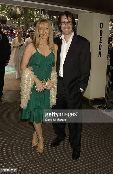 JK Rowling and husband Neil Murray attend the UK Premiere of Harry Potter And The Prisoner Of Azkaban at the Odeon Leicester Square on May 30 2004 in...