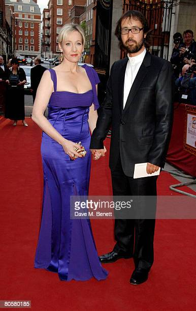 JK Rowling and Neil Murray arrive at the Galaxy Book Awards at the Grosvenor House Hotel on April 9 2008 in London England