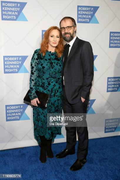 K Rowling and Neil Murray arrives at the RFK Ripple of Hope Awards at New York Hilton Midtown on December 12 2019 in New York City