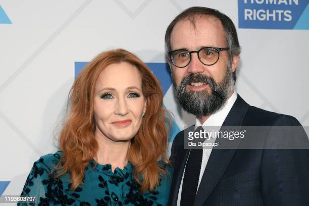Rowling and Neil Murray arrives at the RFK Ripple of Hope Awards at New York Hilton Midtown on December 12, 2019 in New York City.