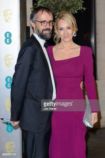 K Rowling and Neil Murray attend the official after party for the 70th EE British Academy Film Awards at The Grosvenor House Hotel on February 12...