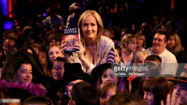 JK Rowling at the launch of Harry Potter and the Deathly Hallows at The Natural History Museum in London