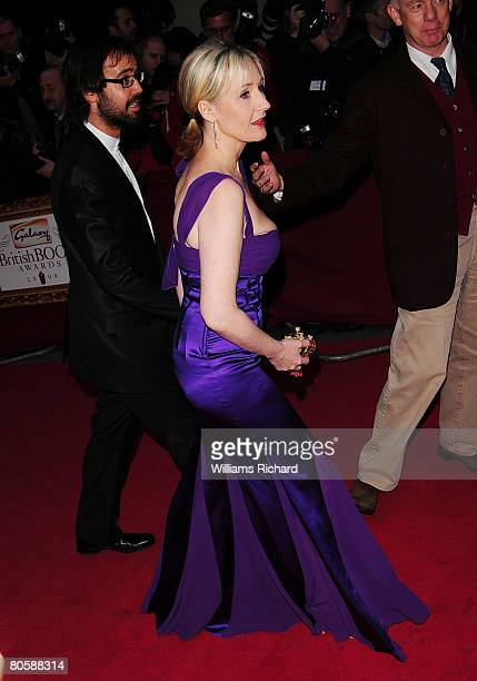 K Rowling attend the Galaxy British Book Awards at the Grosvenor House Hotel on April 9 2008 in London England