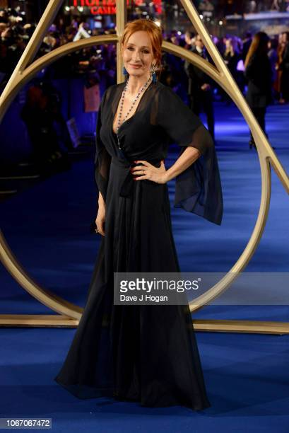 K Rowling attends 'Fantastic Beasts The Crimes Of Grindelwald' UK Premiere at Cineworld Leicester Square on November 13 2018 in London England