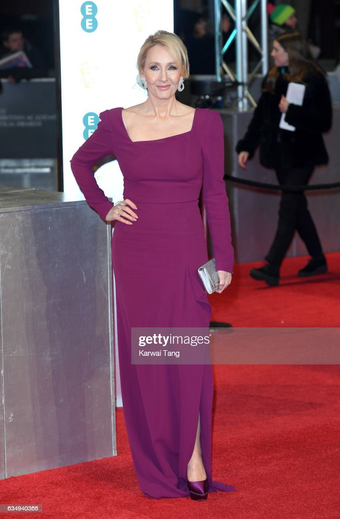 JK Rowling attends the 70th EE British Academy Film Awards (BAFTA) at the Royal Albert Hall on February 12, 2017 in London, England.