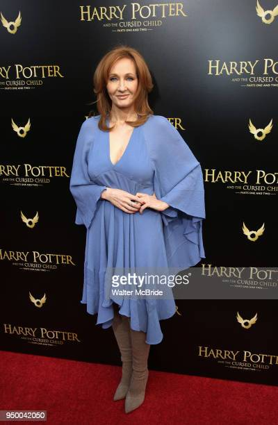 K Rowling attends the Broadway Opening Day performance of 'Harry Potter and the Cursed Child Parts One and Two' at The Lyric Theatre on April 22 2018...