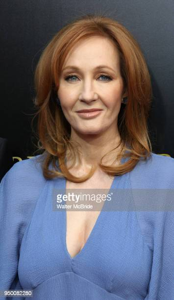 J K Rowling attends the Broadway opening day performance of 'Harry Potter and the Cursed Child Parts One and Two' at The Lyric Theatre on April 22...