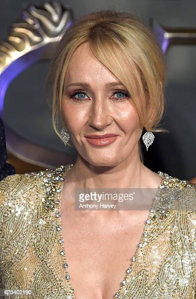 K Rowling attends the European premiere of 'Fantastic Beasts And Where To Find Them' at Odeon Leicester Square on November 15 2016 in London England