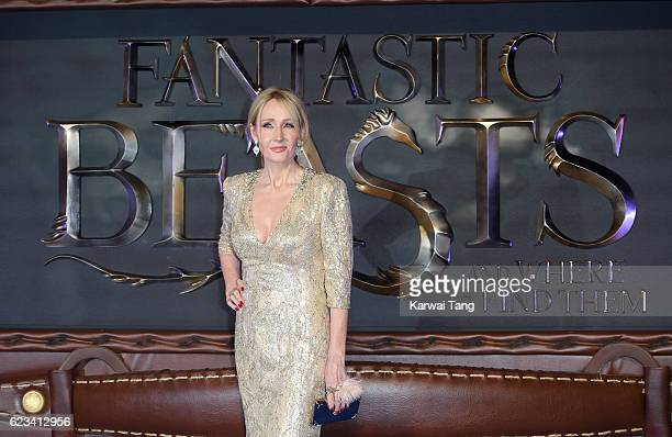J K Rowling attends the European premiere of Fantastic Beasts And Where To Find Them at Odeon Leicester Square on November 15 2016 in London England