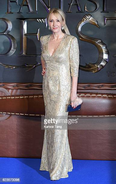 J K Rowling attends the European premiere of 'Fantastic Beasts And Where To Find Them' at Odeon Leicester Square on November 15 2016 in London England