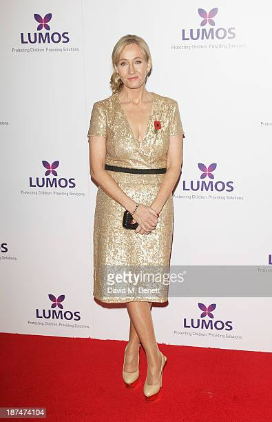 K Rowling attends the Lumos fundraising event hosted by JK Rowling at The Warner Bros Harry Potter Tour on November 9 2013 in London England