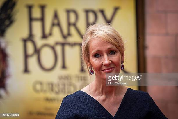 J K Rowling attends the press preview of 'Harry Potter The Cursed Child' at Palace Theatre on July 30 2016 in London England Harry Potter and the...