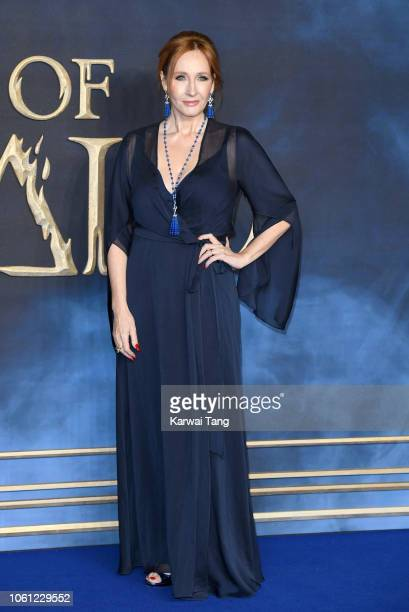 J K Rowling attends the UK Premiere of Fantastic Beasts The Crimes Of Grindelwald at Cineworld Leicester Square on November 13 2018 in London England