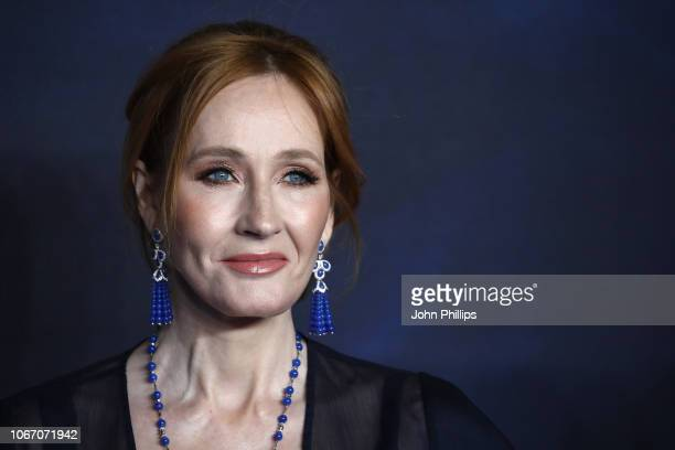 Rowling attends the UK Premiere of Fantastic Beasts The Crimes Of Grindelwald at Cineworld Leicester Square on November 13 2018 in London England