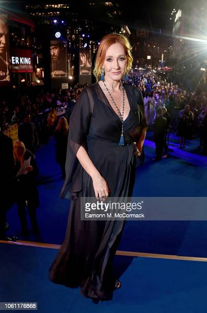 J K Rowling attends the UK Premiere of Fantastic Beasts The Crimes of Grindelwald in London's Leicester Square on November 13 2018 in London United...