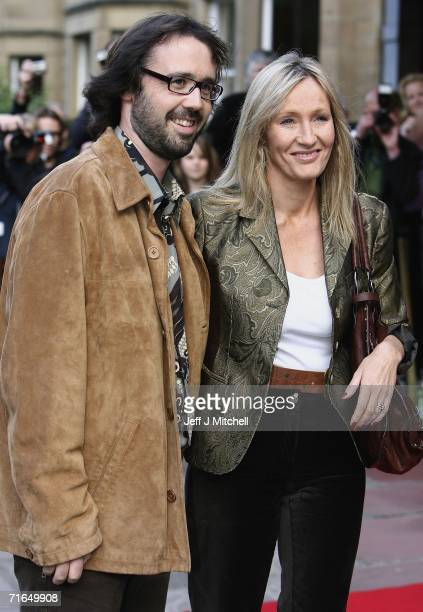 Rowling author of the Harry Potter novels and her husband Dr Neil Murrayarrive at the Dominion theatre for the premier of the film Snow Cake at the...