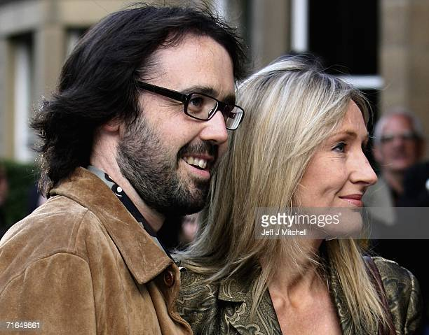 Rowling author of the Harry Potter novels and her husband Dr Neil Murray arrive for the premier of the film Snow Cake at the Edinburgh International...