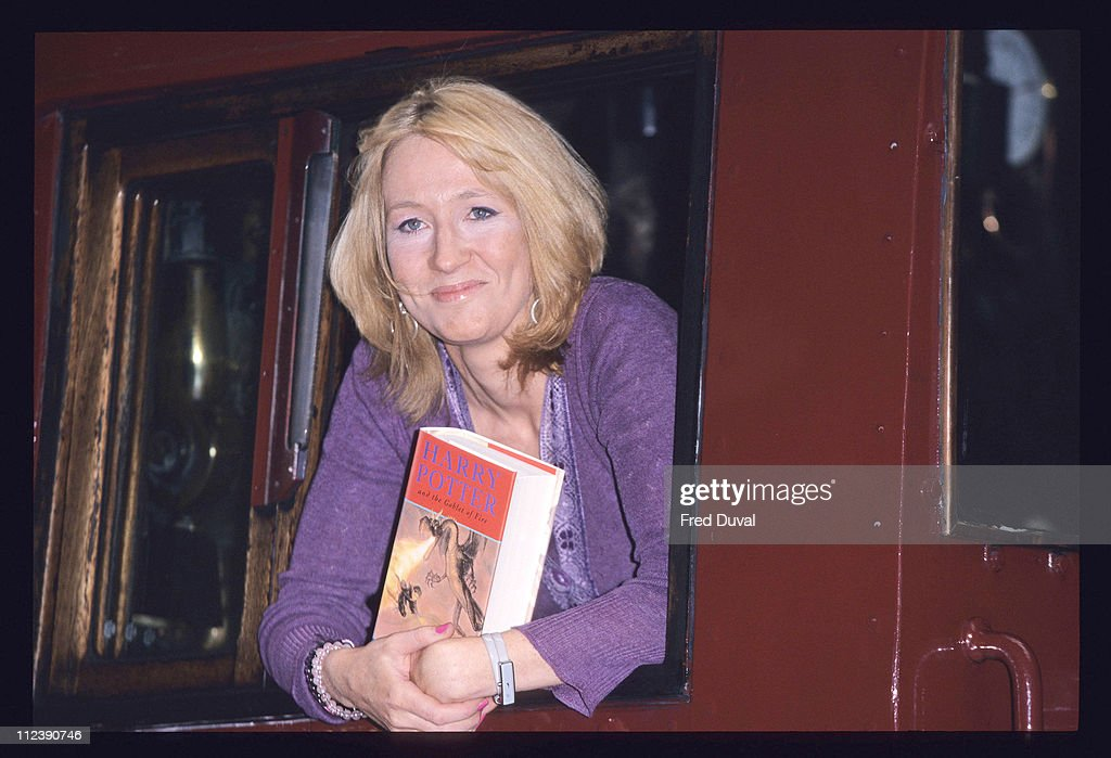Archive Images of JK Rowling at the launch of Harry Potter and The Goblet of Fire : News Photo
